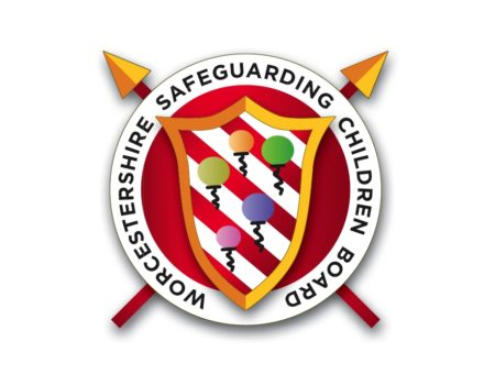 Logo of Worcestershire Safeguarding Children Partnership showing three hands